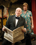 Burlesque<br /> at The Jermyn Street Theatre, London, Great Britain <br /> Press photocall <br /> 10th November 2011 <br /> <br /> Linal Haft (as Freddie LeRoy)<br /> Buster Skeggs (as Lula Malkah)<br /> <br /> <br /> Photograph by Elliott Franks