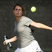 22 February 2017: The San Diego State Aztec's women's tennis team plays host to Eastern Michigan at the Aztec Tennis Center Wednesday afternoon. www.sdsuaztecphotos.com