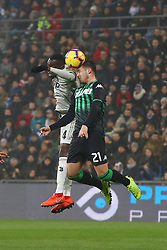 "Foto Filippo Rubin<br /> 10/02/2019 Reggio Emilia (Italia)<br /> Sport Calcio<br /> Sassuolo - Juventus - Campionato di calcio Serie A 2018/2019 - Stadio ""Mapei Stadium""<br /> Nella foto: BLAISE MATUIDI (JUVENTUS) VS POL LIROLA (SASSUOLO)<br /> <br /> Photo Filippo Rubin<br /> February 10, 2019 Reggio Emilia (Italy)<br /> Sport Soccer<br /> Sassuolo vs Juventus - Italian Football Championship League A 2018/2019 - ""Mapei Stadium"" Stadium <br /> In the pic: BLAISE MATUIDI (JUVENTUS) VS POL LIROLA (SASSUOLO)"