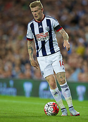 WEST BROMWICH, ENGLAND - Monday, August 10, 2015: West Bromwich Albion's James McClean in action against Manchester City during the Premier League match at the Hawthorns. (Pic by David Rawcliffe/Propaganda)