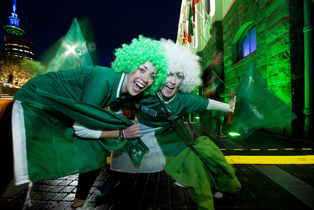 CLIENT: Visual Collective/ATEED<br /> DESCRIPTION: Photography of fans during 2011 Rugby World Cup in Auckland
