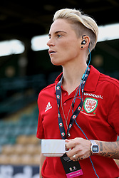 NEWPORT, WALES - Tuesday, June 12, 2018: Wales' Jessica Fishlock walks out to inspect the pitch before the FIFA Women's World Cup 2019 Qualifying Round Group 1 match between Wales and Russia at Newport Stadium. (Pic by David Rawcliffe/Propaganda)