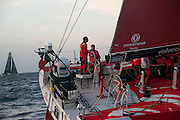 Dongfeng Race Team departs Alicante, Spain for the first leg of the Volvo Ocean Race 2014-2015 heading towards Cape Town, South Africa