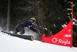 Oskar Kwiatkowski (POL) competes during Qualification Run of Men's Parallel Giant Slalom at FIS Snowboard World Cup Rogla 2016, on January 23, 2016 in Course Jasa, Rogla, Slovenia. Photo by Ziga Zupan / Sportida