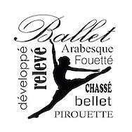Ballet Dancer:  pirouette, bellet, chasse, fouette, arabesque, releve, develope