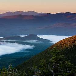 The view south towards the White Mountains from North Percy Peak in New Hampshire's Nash Stream State Forest.