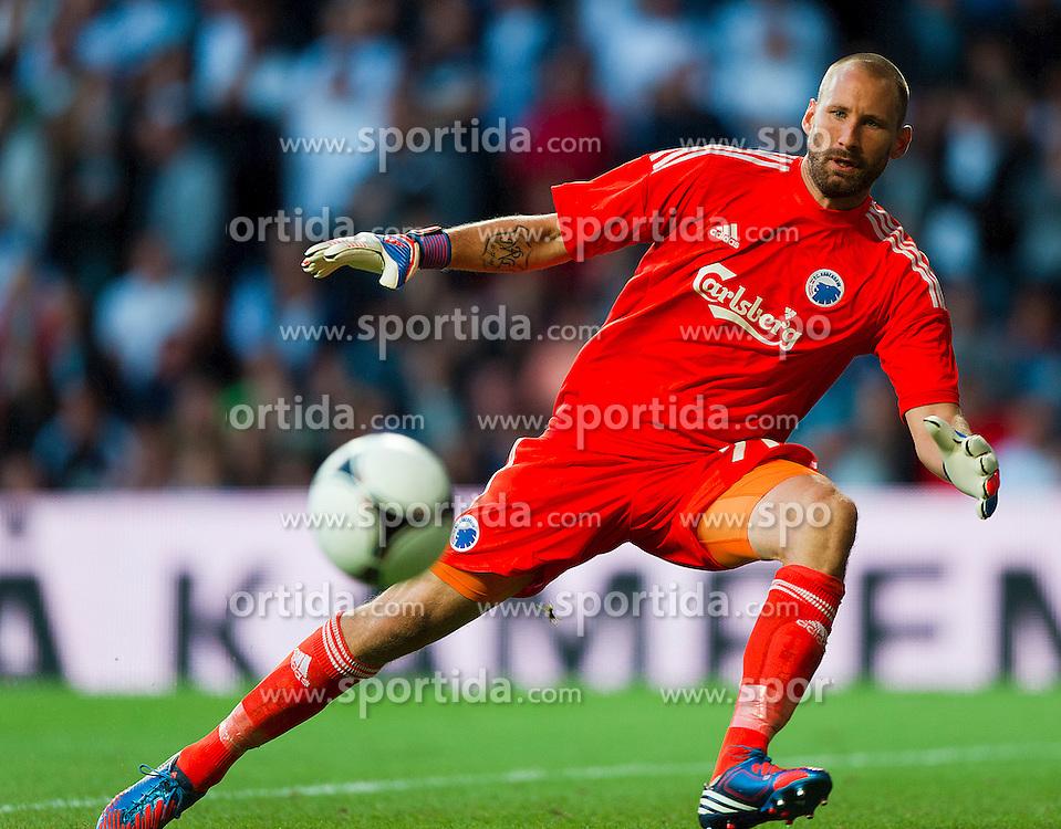 Football: Denmark, FC Kopenhagen.Keeper Johan Wiland.© pixathlon