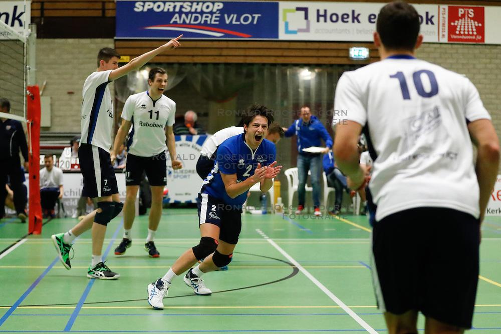 20161126 NED: Beker, Sliedrecht Sport - Pelster Cito: Sliedrecht <br />Ian de Bus, Tom Feldkamp, Tristan Keijzer of Sliedrecht Sport <br />©2016-FotoHoogendoorn.nl / Pim Waslander