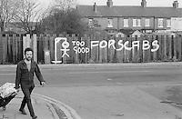 Graffiti at Fitzwilliam, West Yorkshire near Kinsley Drift mine, Hemsworth