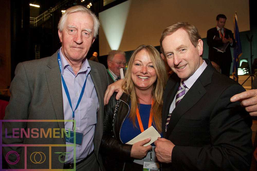 Lensmen Photographic Agency in Dublin, Ireland. <br /> An Taoiseach and FG Party Leader Enda Kenny TD addressing delegates at the Fine Gael Ard Fheis that is taking place at the Convention Centre Dublin..30.3.2012