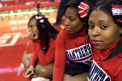 PIAA District 12 Public League Basketball Championships Final, Liacouras Center, Philadelphia, PA, USA - February 24, 2013; Imhotep cheerleaders watch the halftime performance. Imhotep led 36-29 at the break.