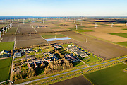 Nederland, Flevoland, Lelystad, 28-02-2016; Bioscience Center Wageningen UR, bio- en lifescience, bioinformatica, duurzame energie, windenergie, nieuwe agrarische producten, humane gezondheid en agrofood<br /> Bioscience Center Wageningen University.<br /> luchtfoto (toeslag op standard tarieven);<br /> aerial photo (additional fee required);<br /> copyright foto/photo Siebe Swart
