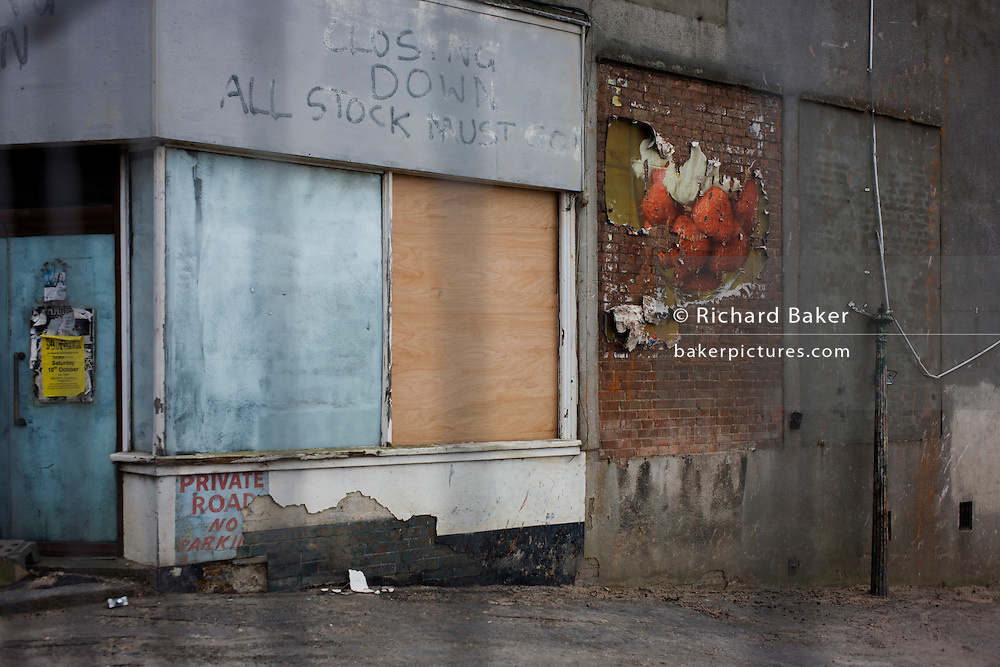 A derelict business about to be redeveloped in Leigh-on-sea, Essex.
