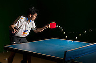 Rio de Janeiro, Brazil, July 11 of 2007:   The Brazilian table tennis player Hugo Hoyama training for the games . (Photo: Caio Guatelli)
