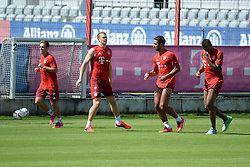 06.08.2015, Saebener Strasse, Muenchen, GER, 1. FBL, FC Bayern Muenchen, im Bild vl. Philipp Lahm ( FC Bayern Muenchen ), Manuel Neuer ( FC Bayern Muenchen ), Medhi Benatia ( FC Bayern Muenchen ) und Jerome Boateng ( FC Bayern Muenchen ) // during a Trainingssession of German Bundesliga Club FC Bayern Munich at the Saebener Strasse in Muenchen, Germany on 2015/08/06. EXPA Pictures © 2015, PhotoCredit: EXPA/ Eibner-Pressefoto/ Vallejos<br /> <br /> *****ATTENTION - OUT of GER*****