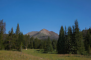 The dramatic 3343m Electric Peak, in the Gallatin Range, Montana, in Yellowstone National Park. The mountain is named for the amount of thunderstorms it attracts.