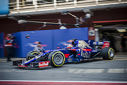 March 10, 2017 - Montmelo, Catalonia, Spain - CARLOS SAINZ JR. (ESP) of Toro Rosso at the pit stop at day 8 of Formula One testing at Circuit de Catalunya (Credit Image: © Matthias Oesterle via ZUMA Wire)