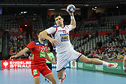 Nemanja Zelenovic (Serbia) during the EHF 2018 Men's European Championship, 2nd Round, Handball match between Serbia and Norway on January 18, 2018 at the Arena in Zagreb, Croatia - Photo Laurent Lairys / ProSportsImages / DPPI