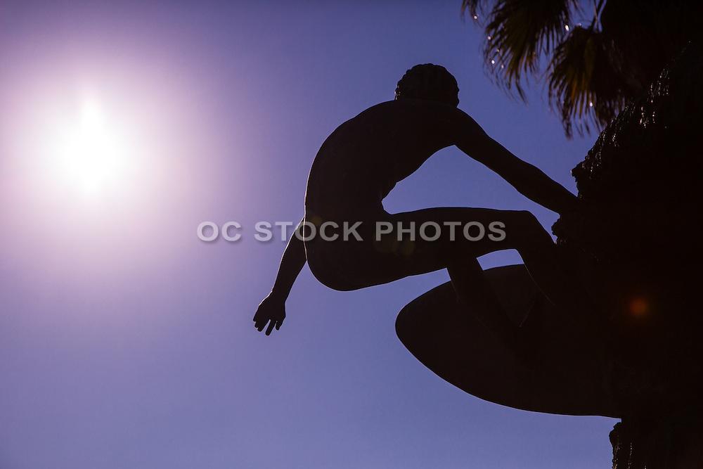 Edmund Shumpert Surfer Statue in Huntington Beach California