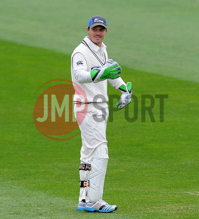 New Zealand's BJ Watling. Photo mandatory by-line: Harry Trump/JMP - Mobile: 07966 386802 - 11/05/15 - SPORT - CRICKET - Somerset v New Zealand - Day 4 - The County Ground, Taunton, England.
