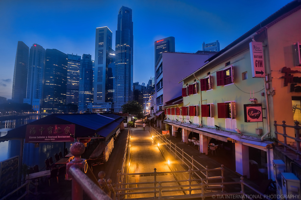 Boat Quay @ Sunrise