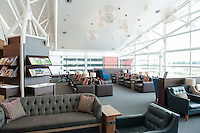 Inside the British Airways Galleries Lounge at Cape Town International Airport, South Africa.