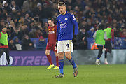 Jamie Vardy (9) during the Premier League match between Leicester City and Liverpool at the King Power Stadium, Leicester, England on 26 December 2019.