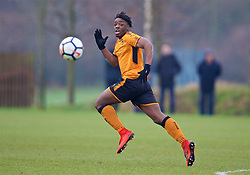 WOLVERHAMPTON, ENGLAND - Tuesday, December 19, 2017: Wolverhampton Wanderer's Austin Samuels during an Under-18 FA Premier League match between Wolverhampton Wanderers and Liverpool FC at the Sir Jack Hayward Training Ground. (Pic by David Rawcliffe/Propaganda)