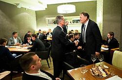 Dinner of Davis Cup Slovenia vs Lithuania competition, on October 28, 2015 in Restaurant Brioni, Kranj, Slovenia. Photo by Vid Ponikvar / Sportida
