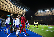 BERLIN, TYSKLAND - 2017-12-07: Brwa Nouri inf&ouml;r UEFA Europa League group J matchen mellan Hertha BSC och &Ouml;stersunds FK p&aring; Olympiastadion den 7 december, 2017 i  Berlin, Tyskland. Foto: Nils Petter Nilsson/Ombrello<br /> ***BETALBILD***