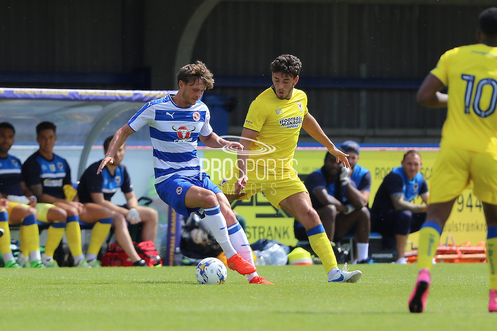 AFC Wimbledon defender Will Nightingale (5) during the Pre-Season Friendly match between AFC Wimbledon and Reading at the Cherry Red Records Stadium, Kingston, England on 23 July 2016. Photo by Stuart Butcher.