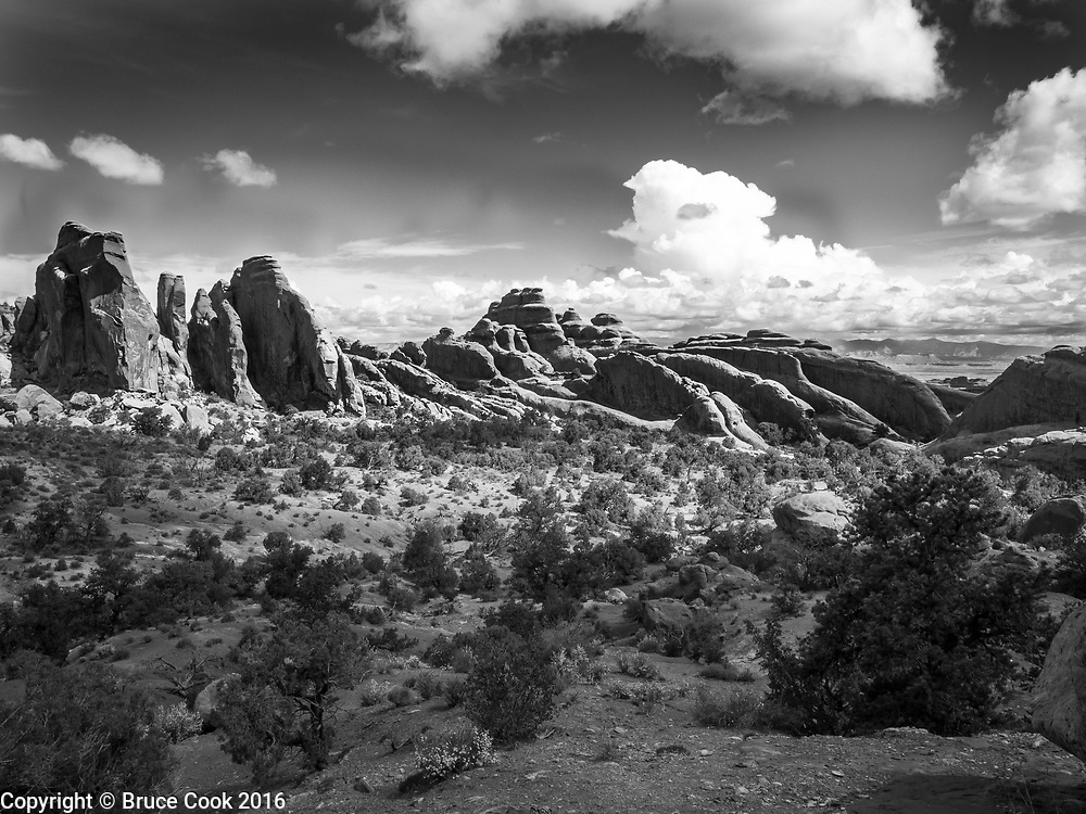 Hike from Double O Arch to Dark Angel, Arches National Park.