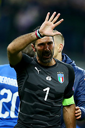 November 13, 2017 - Milan, Italy - The disappointment of Gianluigi Buffon of Italy crying at San Siro Stadium in Milan, Italy on November 13, 2017. (Credit Image: © Matteo Ciambelli/NurPhoto via ZUMA Press)