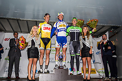 1: Yves Lampaert (BEL) of Topsport Vlaanderen - Baloise, 2: Michael Vingerling (NED) of Team 3M, 3: Jos van Emden (NED) of Belkin Pro Cycling, Arnhem Veenendaal Classic , UCI 1.1, Veenendaal, The Netherlands, 22 August 2014, Photo by Thomas van Bracht
