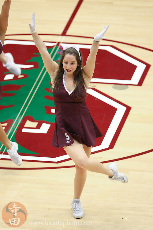 February 4, 2007; Stanford, CA, USA; Stanford Cardinal Dollies dancer Amy during the game against the California Golden Bears at Maples Pavilion. The Golden Bears defeated the Cardinal 72-57.