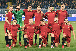 24.01.2018, Stadio Luigi Ferraris, Genua, ITA, Serie A, Sampdoria Genua vs AS Roma, 3. Runde, im Bild formazione roma // training roma during the Italian Serie A 3th round match between Sampdoria Genua and AS Roma at the Stadio Luigi Ferraris in Genua, Italy on 2018/01/24. EXPA Pictures © 2018, PhotoCredit: EXPA/ laPresse/ Tano Pecoraro<br /> <br /> *****ATTENTION - for AUT, SUI, CRO, SLO only*****