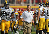 September 12, 2009: Iowa head coach Kirk Ferentz before the start of the Iowa Hawkeyes' 35-3 win over the Iowa State Cyclons at Jack Trice Stadium in Ames, Iowa on September 12, 2009.