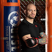 West Hartford, CT, 3/26/2019<br /> hc-news-ct-mma-fighter-cop-classes<br /> <br /> MMA fighter Matt Bessette of Stafford Springs photographed at Underdog MMA in West Hartford. Bessette is offering classes in Brazilian Jiu Jitsu to police officers, beginning in April.<br /> <br /> Photo by MARA LAVITT | Special to the Courant.