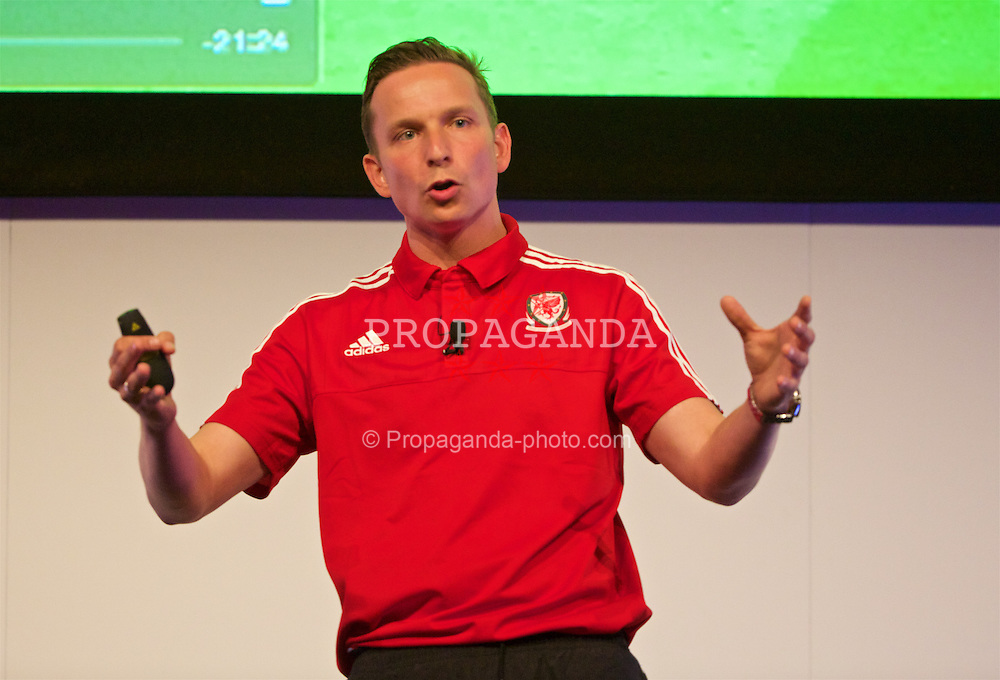NEWPORT, WALES - Saturday, May 21, 2016: Liverpool's first-team development coach Pepijn Lijnders during the Football Association of Wales' National Coaches Conference 2016 at the Celtic Manor Resort. (Pic by David Rawcliffe/Propaganda)