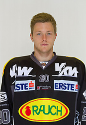 29.08.2012, Messestadion, Dornbirn, AUT, EBEL, Spielerportraits, Dornbirner Eishockey Club, im Bild Marc Trummer, (Dornbirner Eishockey Club, #20)// during Dornbirner Eishockey Club Player Portrait Session at the Messestadion, Dornbirn, Austria on 2012/08/29, EXPA Pictures © 2012, PhotoCredit: EXPA/ Peter Rinderer