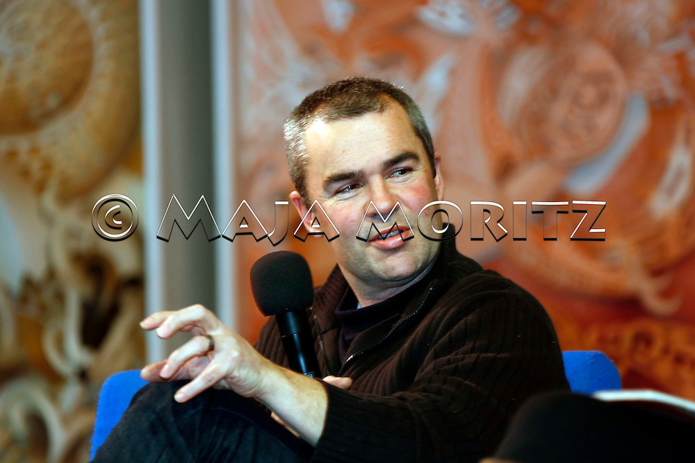 Bernard Beckett during a literary event in the National Museum Te Papa Tongarewa, Wellington, New Zealand