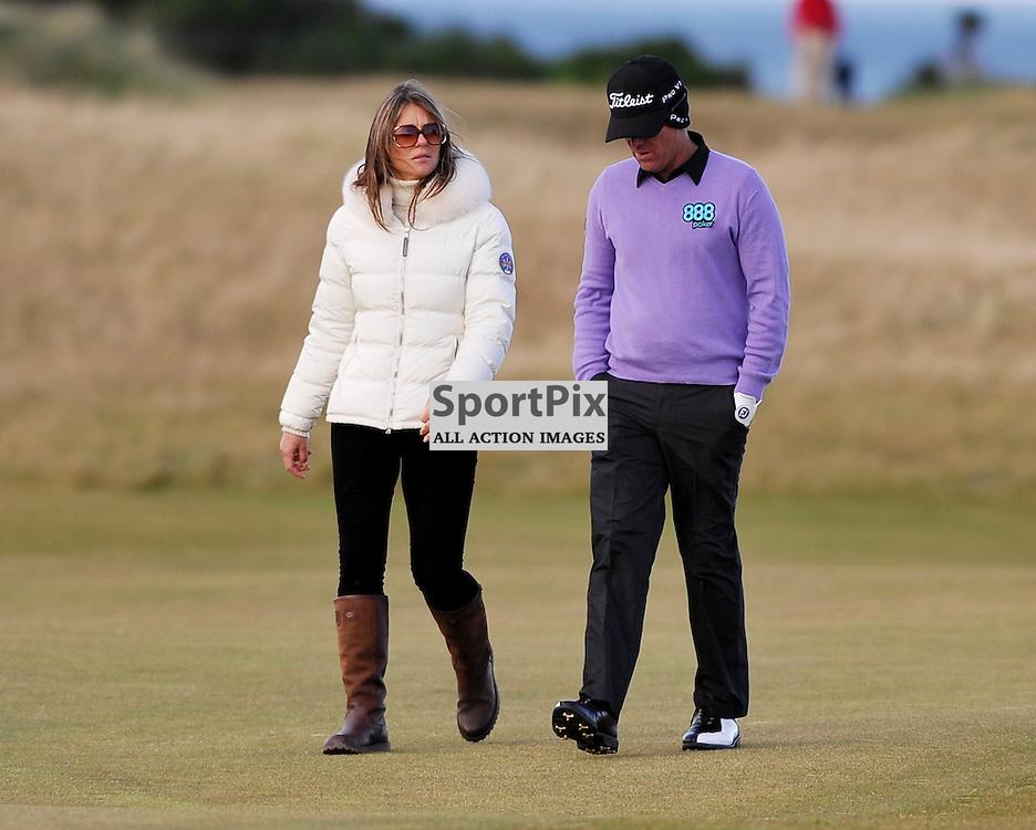 Liz Hurley and Shane Warne. .Alfred Dunhill Links Championship, Kingsbarns, 6th October 2012..(c)  Alex Todd | StockPix.eu