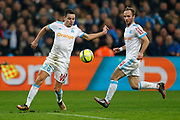 Olympique de Marseille's French forward Florian Thauvin runs with the ball during the French Championship Ligue 1 football match between Olympique de Marseille and AS Monaco on January 28, 2018 at the Orange Velodrome stadium in Marseille, France - Photo Benjamin Cremel / ProSportsImages / DPPI