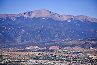 Pikes Peak Aerial view and Garden of the Gods