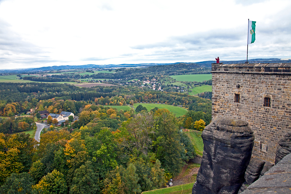 Sited on a 1200-foot-high bluff above the Elbe River in Saxony, Germany, the Konigstein Fortress traces its roots to a medieval castle built in the 13th century.