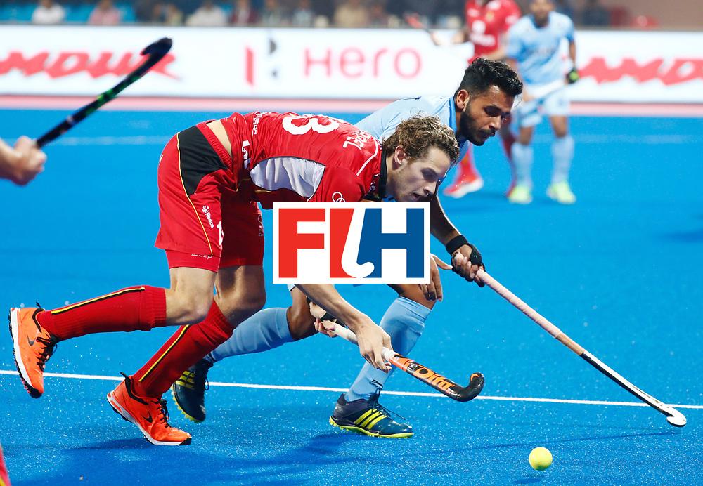 Odisha Men's Hockey World League Final Bhubaneswar 2017<br /> Match id:13<br /> Belgium v India<br /> Foto: Nicolas de Kerpel (Bel) <br /> COPYRIGHT WORLDSPORTPICS KOEN SUYK