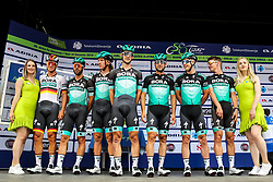 Pascal Ackermann (GER) of Bora - Hansgrohe, Shane Archbold (NZL) of Bora - Hansgrohe, Erik Baska (SVK) of Bora - Hansgrohe, Oscar Gatto (ITA) Bora - Hansgrohe, Jay McCarthy (AUS) of Bora - Hansgrohe, Juraj Sagan (SVK) of Bora - Hansgrohe, Michael Schwarzmann (GER) of Bora - Hansgrohe during 1st Stage of 26th Tour of Slovenia 2019 cycling race between Ljubljana and Rogaska Slatina (171 km), on June 19, 2019 in  Slovenia. Photo by Matic Klansek Velej / Sportida