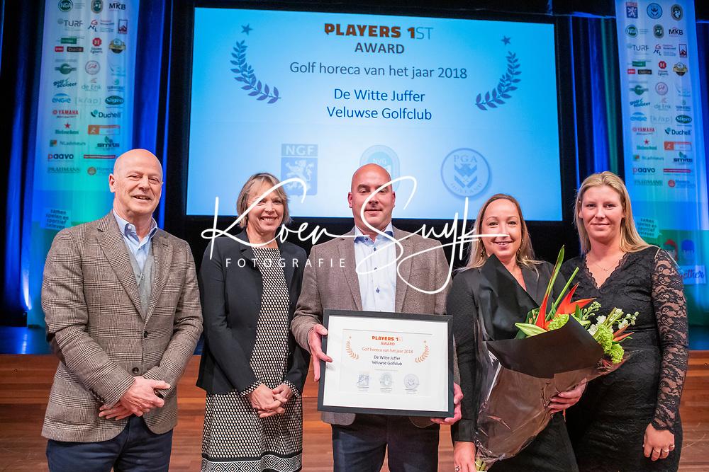 BUSSUM - De Witte Juffer, De Veluwse Golfclub , is kreeg de Horeca Award 2018   Nationaal Golf Congres & Beurs. COPYRIGHT KOEN SUYK