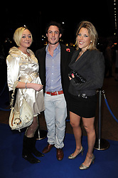 Left to right, FRANCESCA BROUGH, JAMES WILLS and CLEMENTINE RAINY-BROWN at the premier of Tenacity on the Tasman at the Odeon Leicester Square, London on 19th November 2009.