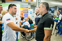Darko Dzuric and Damijan Lazar during departure of Slovenian Paralympic Team to Paralympic Games Rio 2016, on August 31, 2016, in Airport Joze Pucnik, Brnik, Slovenia. Photo by Vid Ponikvar / Sportida